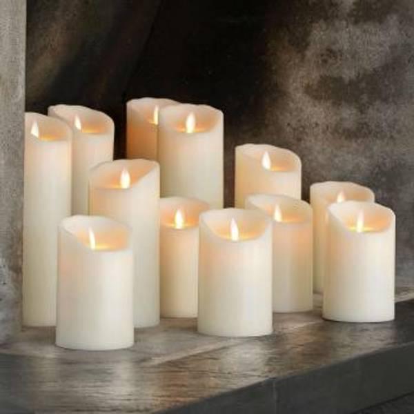 Sompex, LED candel 8x12,5 ivory