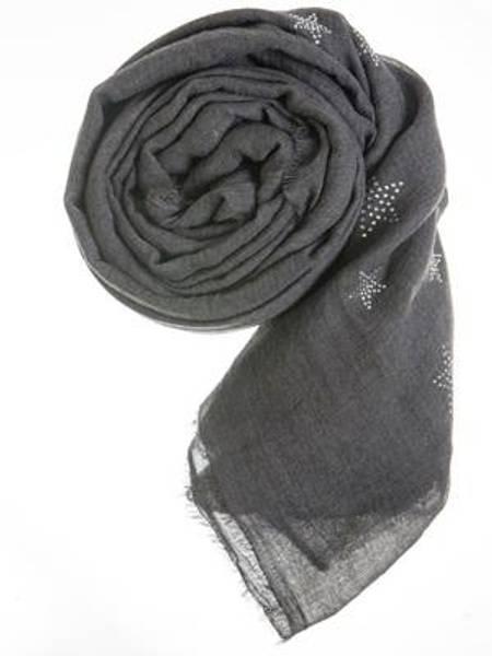 Barfota skjerf , Rhinstones dark grey