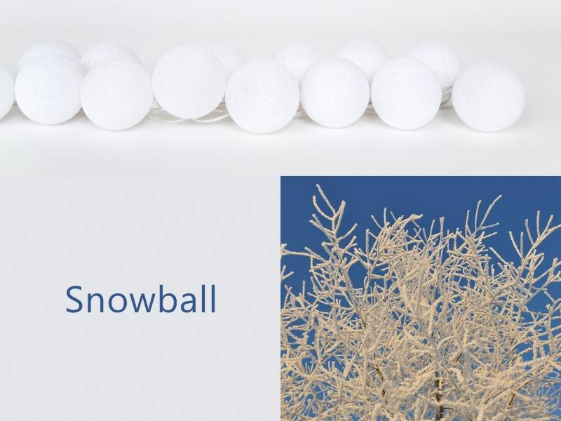 Happylights Snowball lyskjede